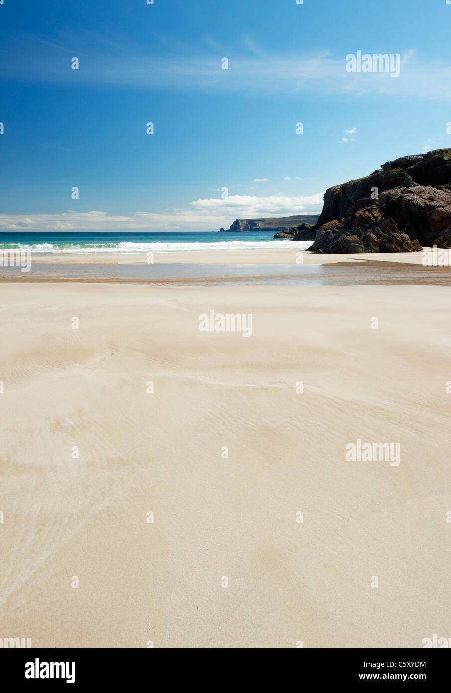 Traigh Allt Chailgeag, a beach near Durness, Sutherland, Highland, Scotland, UK. - Stock Image