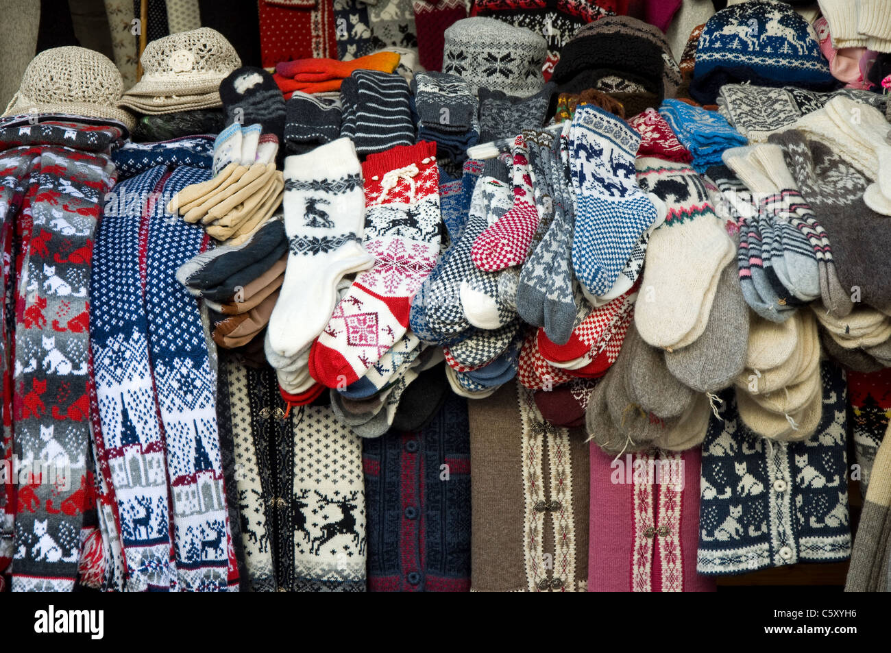 Local handicrafts, Tallinn, Estonia - Stock Image
