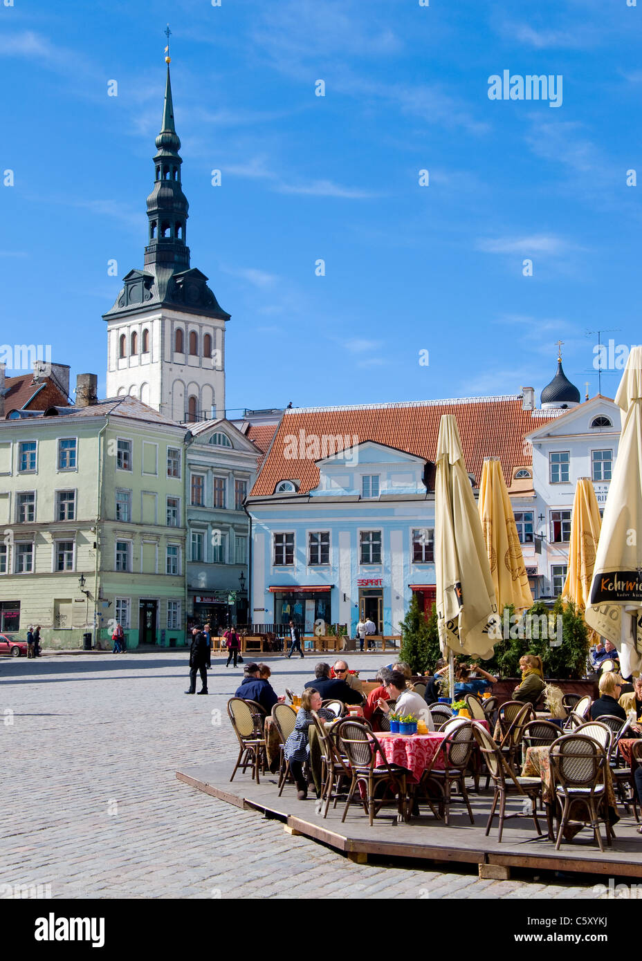 Town Hall Square, Tallinn, Estonia - Stock Image