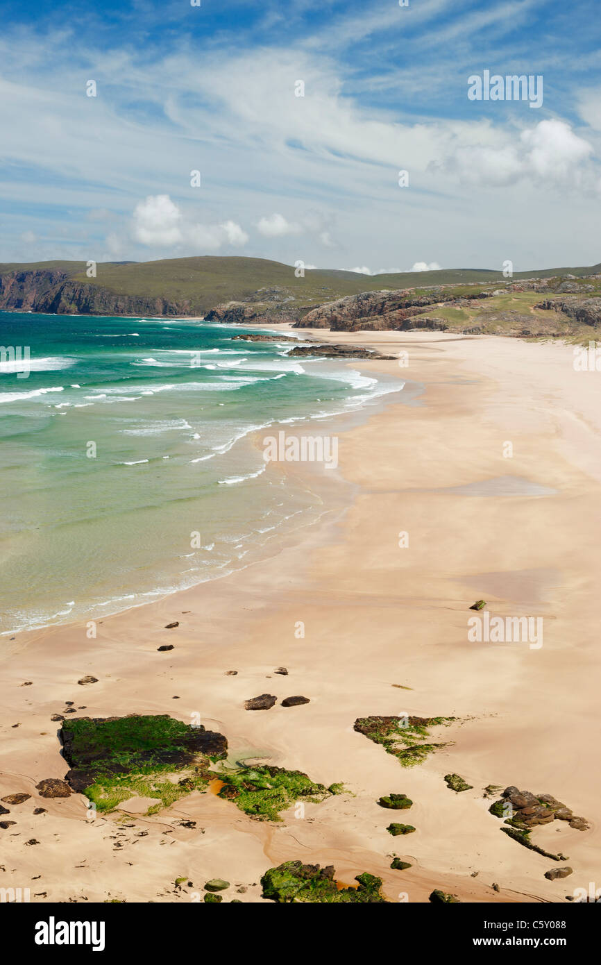 Sandwood Bay, Sutherland, Highland, Scotland, UK. Viewed from the south. - Stock Image