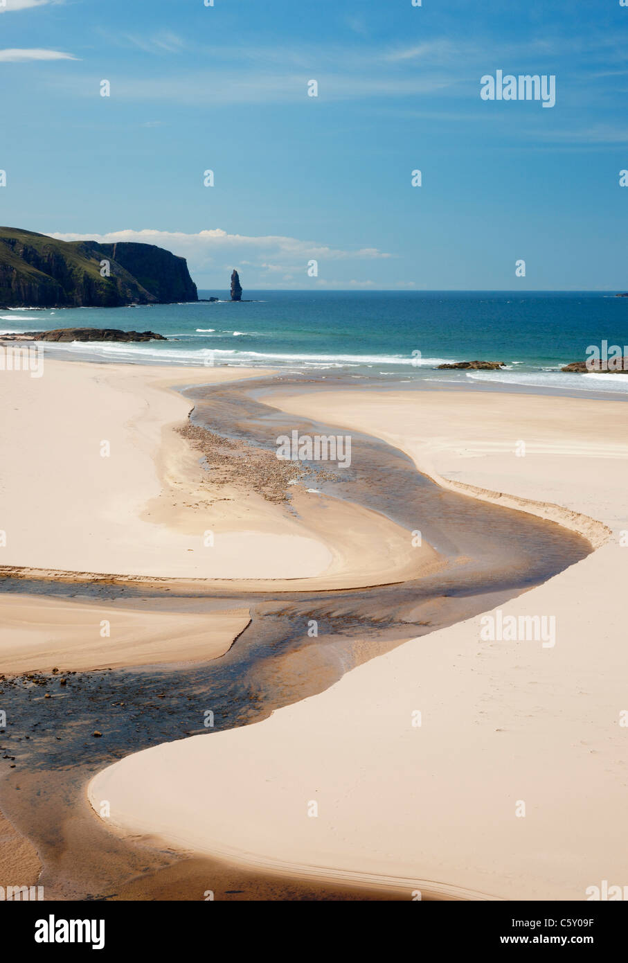 Sandwood Bay, Sutherland, Highland, Scotland, UK. Stock Photo