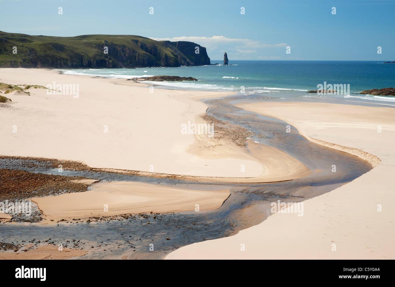 Sandwood Bay, Sutherland, Highland, Scotland, UK. - Stock Image