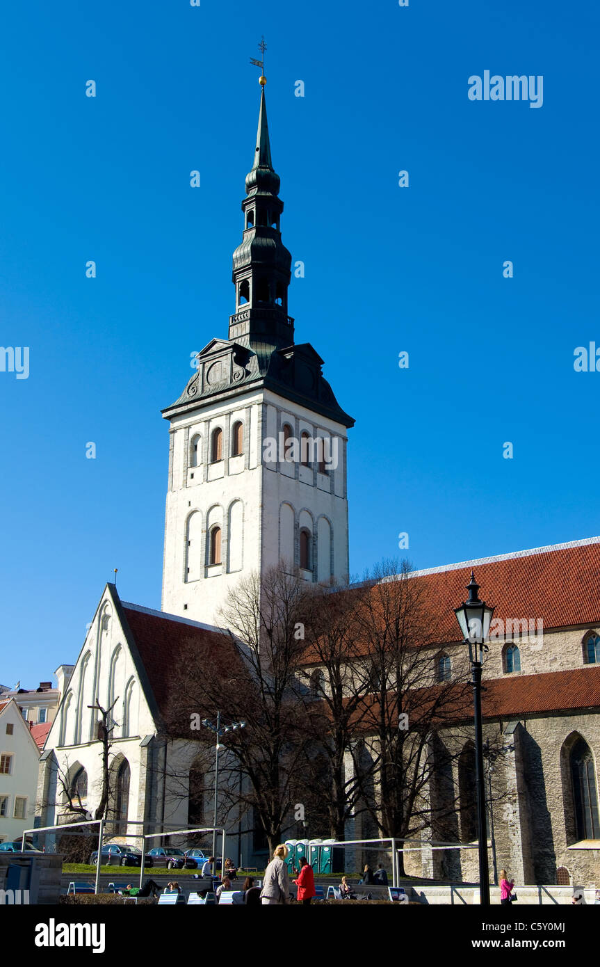 Niguliste Church, Tallinn, Estonia Stock Photo