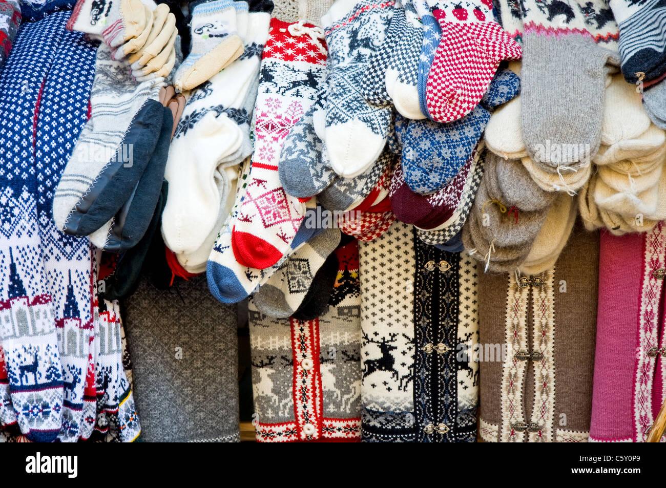 Local handicrafts, Tallinn, Estonia - Stock Image