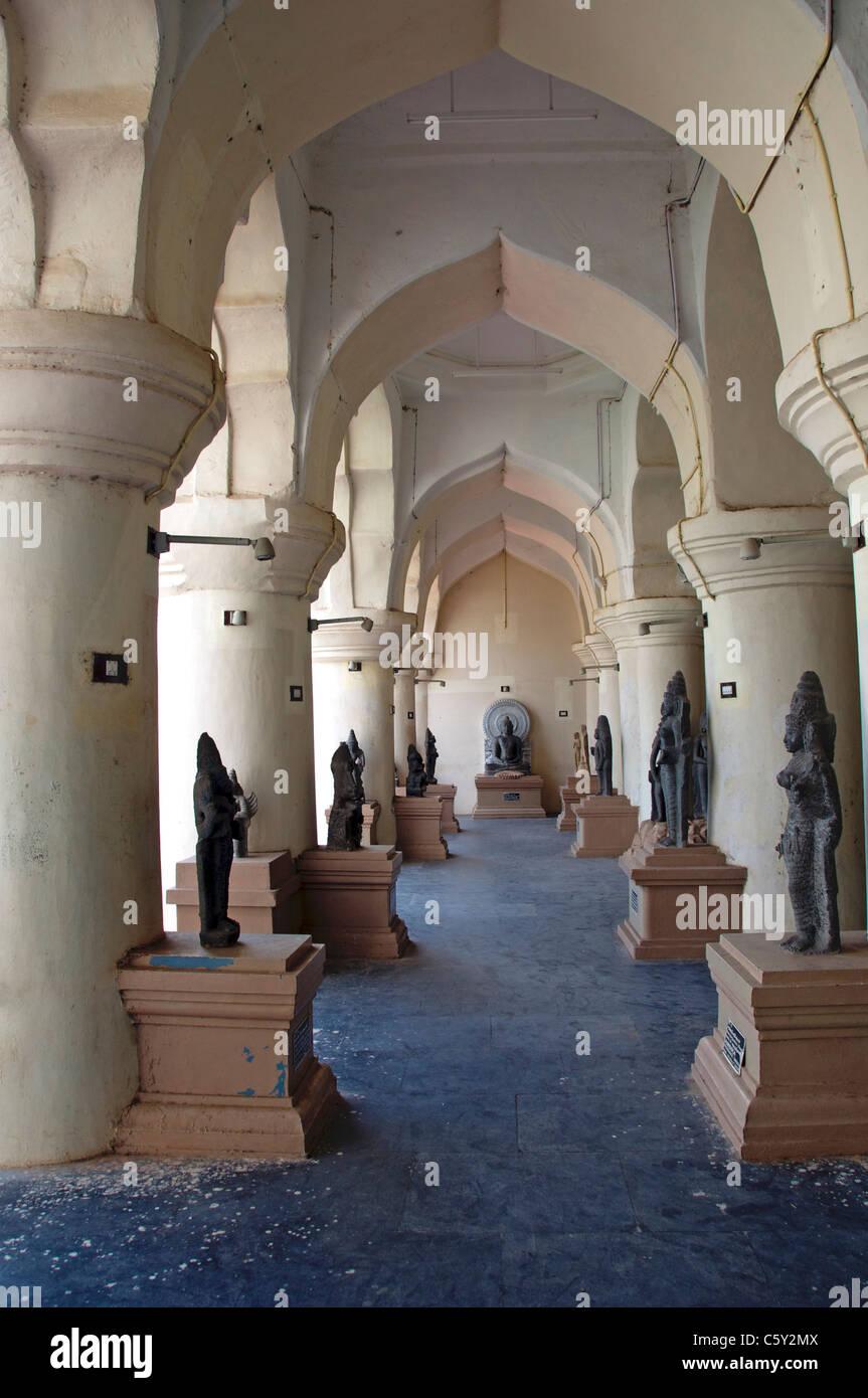 Chola bronzes Royal Palace Thanjavur Tamil Nadu South India - Stock Image