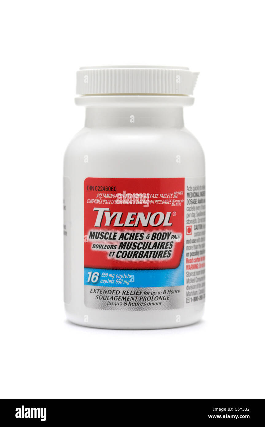 Tylenol for Muscle and Body Aches - Stock Image