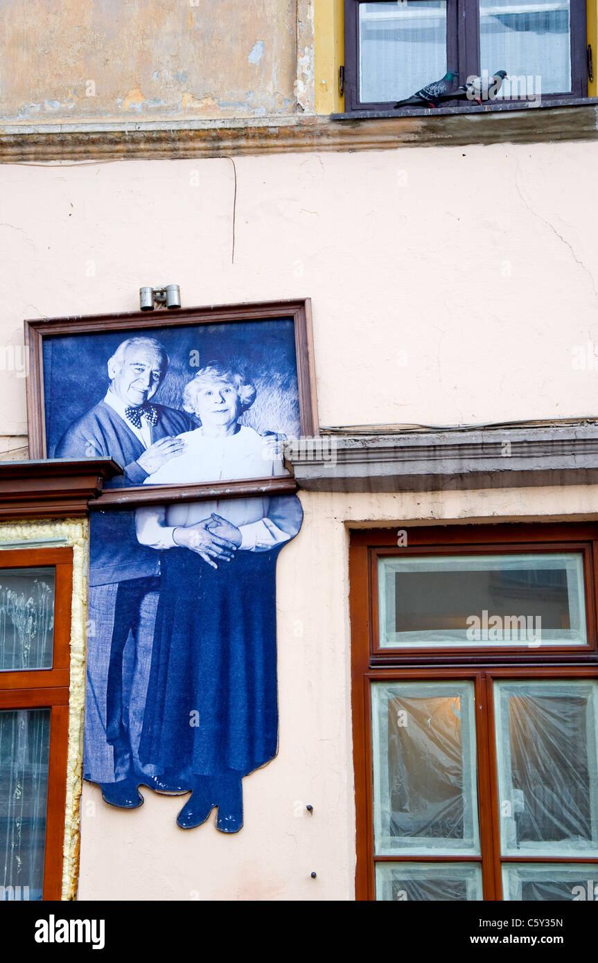Street Art, Vilnius, Lithuania - Stock Image