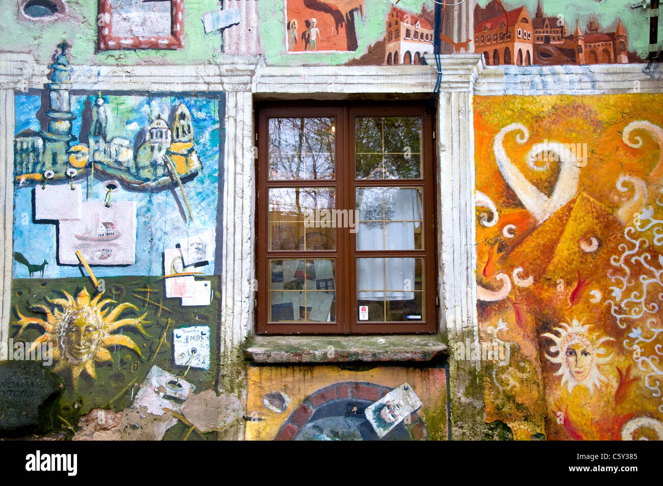Art Gallery, Uzupis, Vilnius, Lithuania - Stock Image