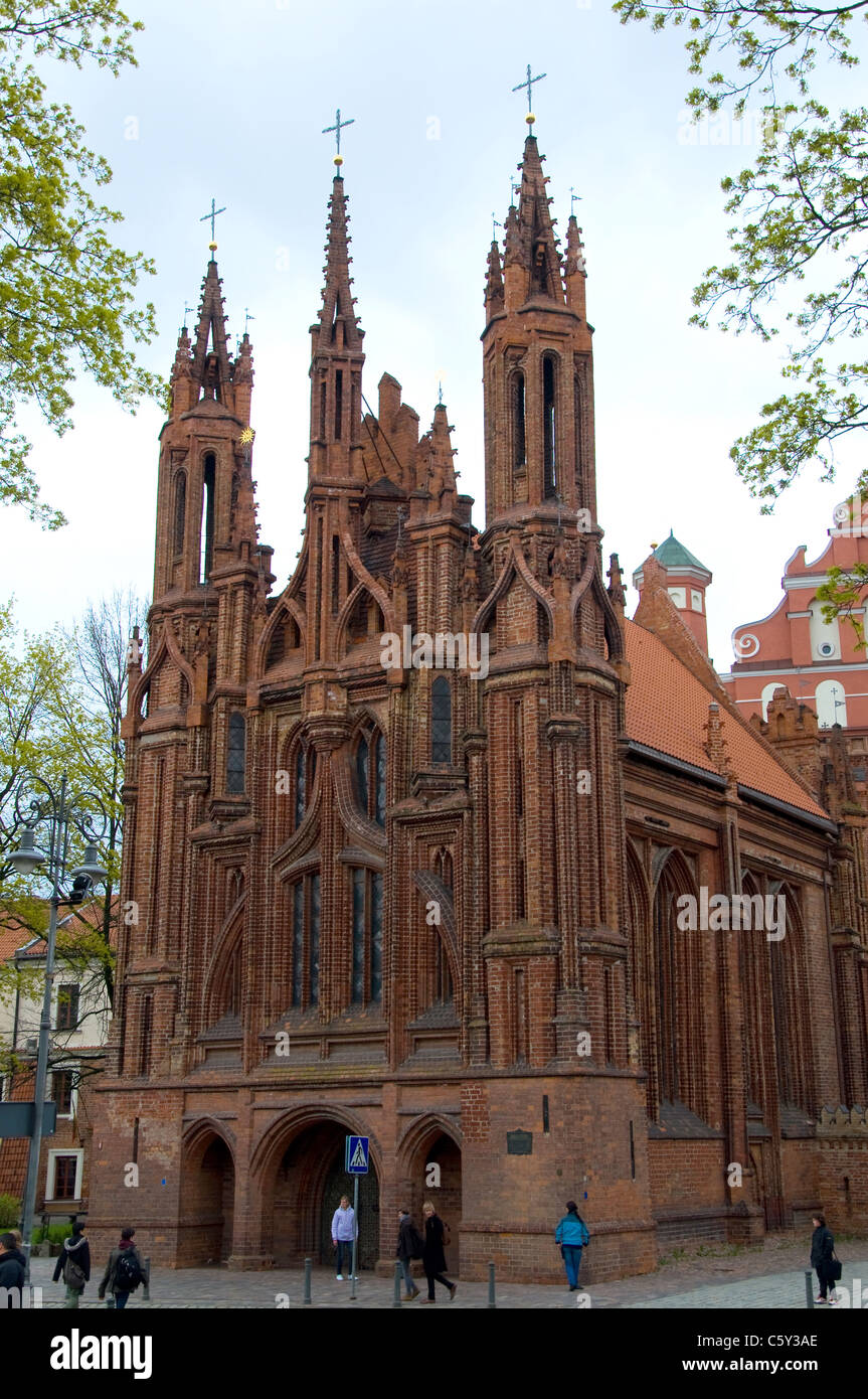 St Anne's Church, Vilnius, Lithuania - Stock Image