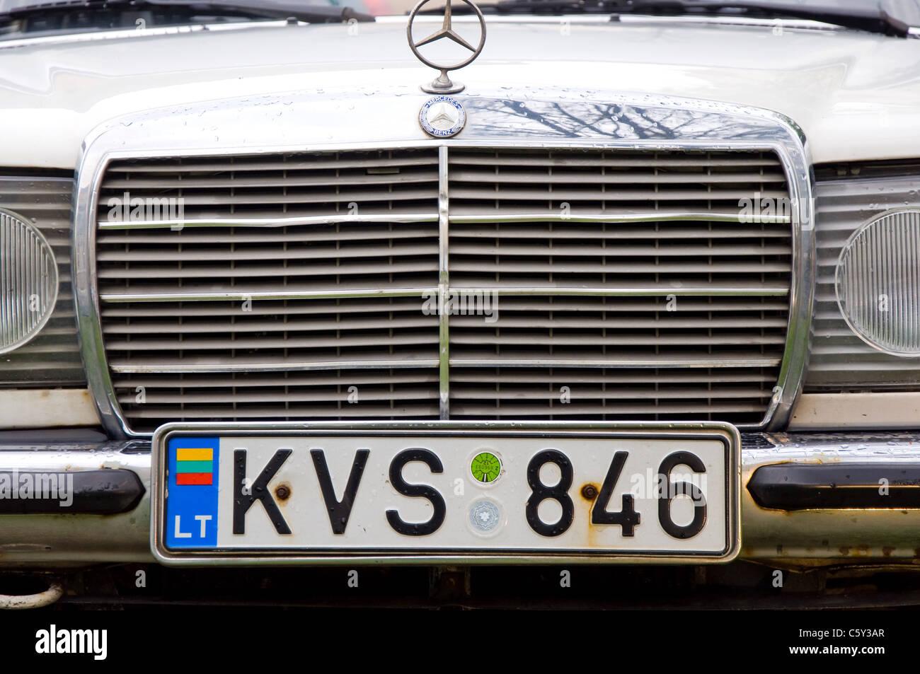 Old Mercedes Benz Stock Photos Images Alamy 230ce Fuel Filter Vilnius Lithuania Image