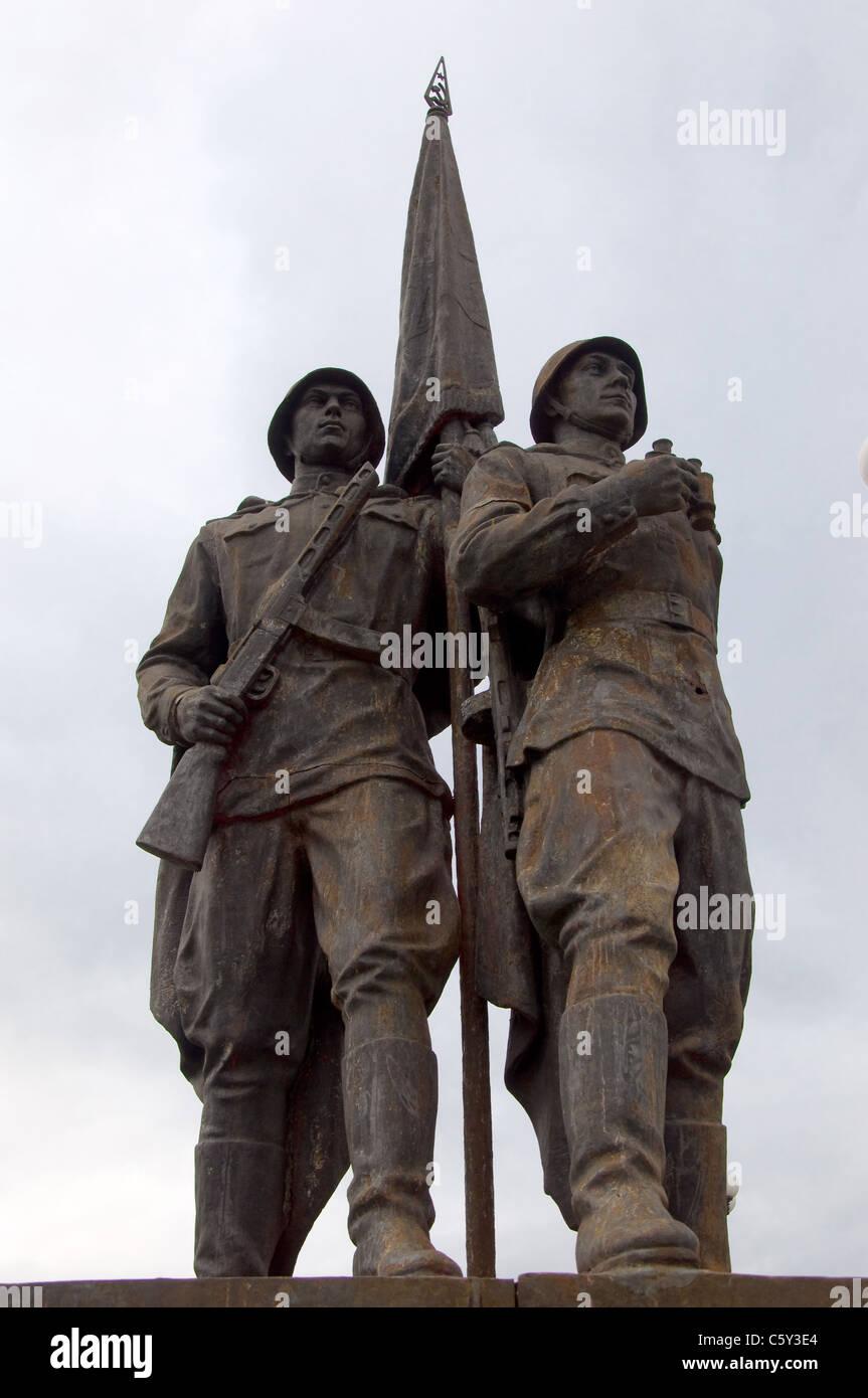 Soviet Statues on the Green Bridge, Vilnius, Lithuania Stock Photo