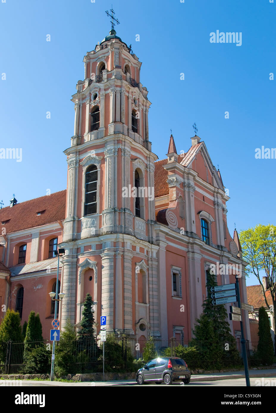 Baroque Church, Vilnius, Lithuania - Stock Image