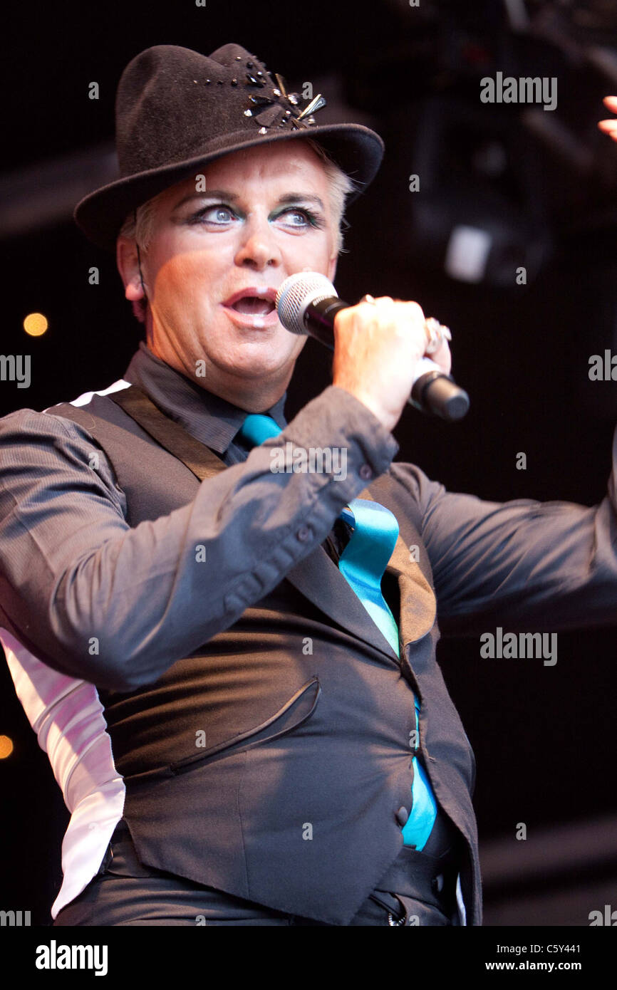 06-08-2011 : Steve Strange of Visage performing at the Here and Now 80s concert at Ascot Racecourse - Stock Image