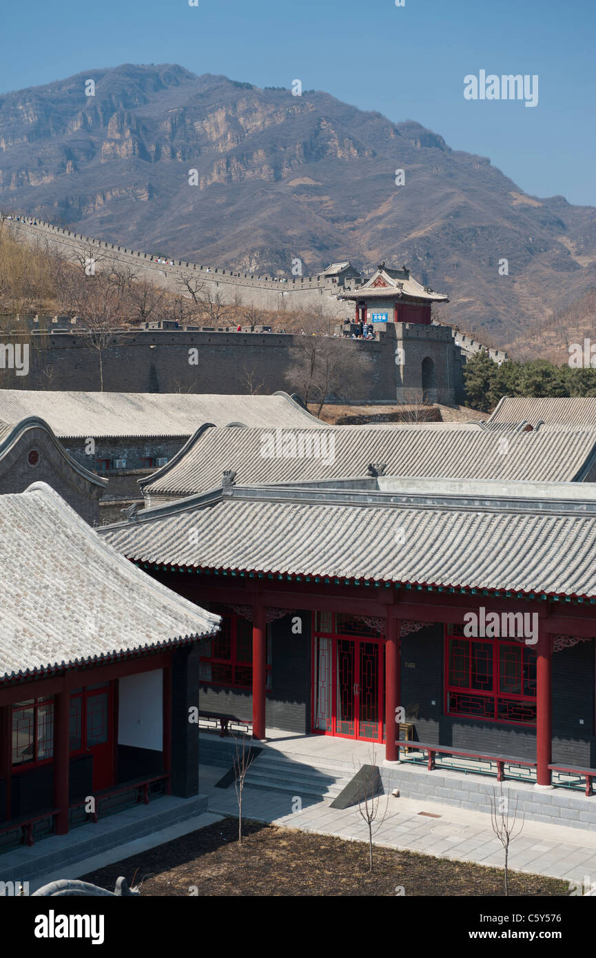Military Barracks and the Great Wall of China at ...