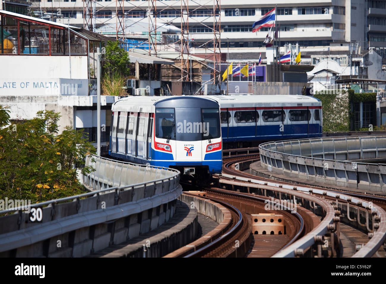The Skytrain in Bangkok, Thailand Stock Photo
