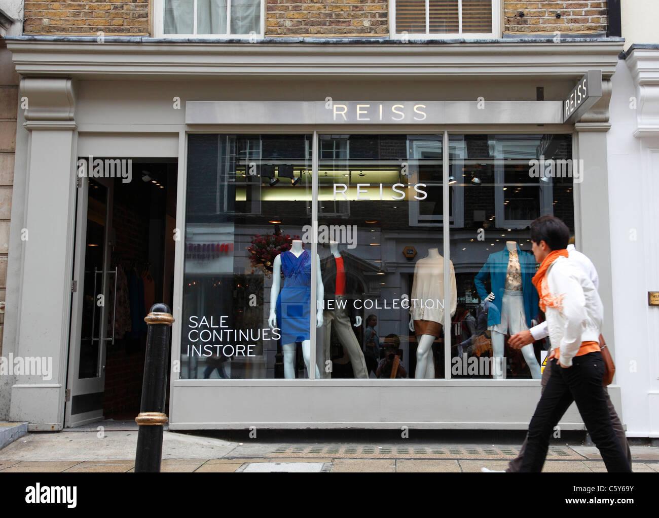 A Reiss store on South Molton Street, London, England, U.K. - Stock Image
