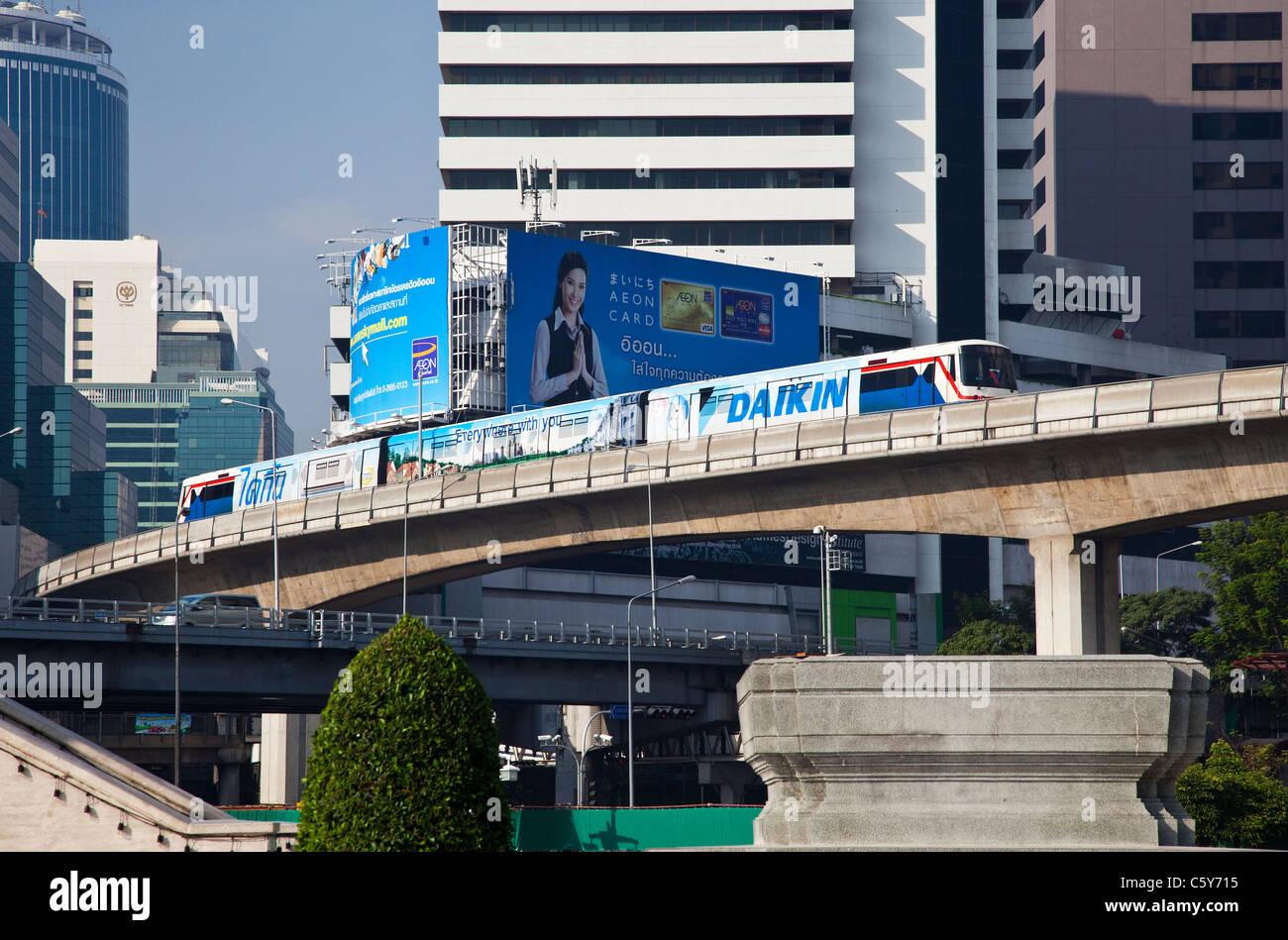 The Skytrain in Bangkok, Thailand Stock Photo