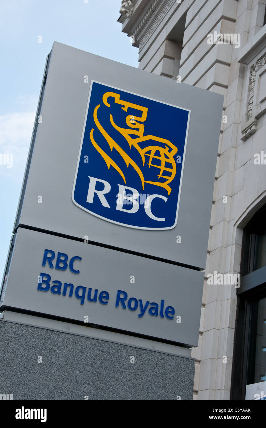 Royal bank Laurier street Montreal Canada - Stock Image