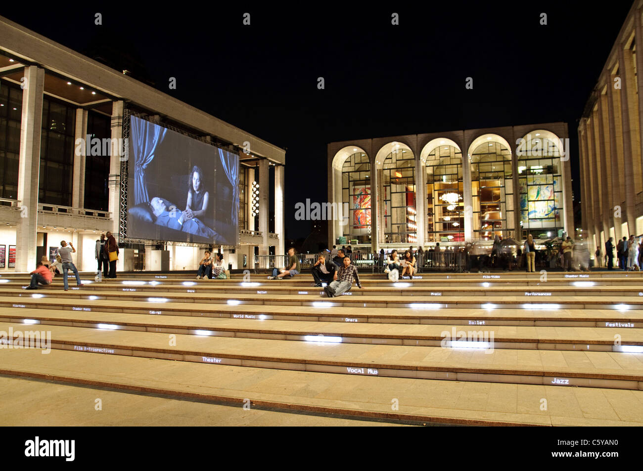 The renovated Lincoln Center Performing Arts center, Broadway, New York City - Stock Image