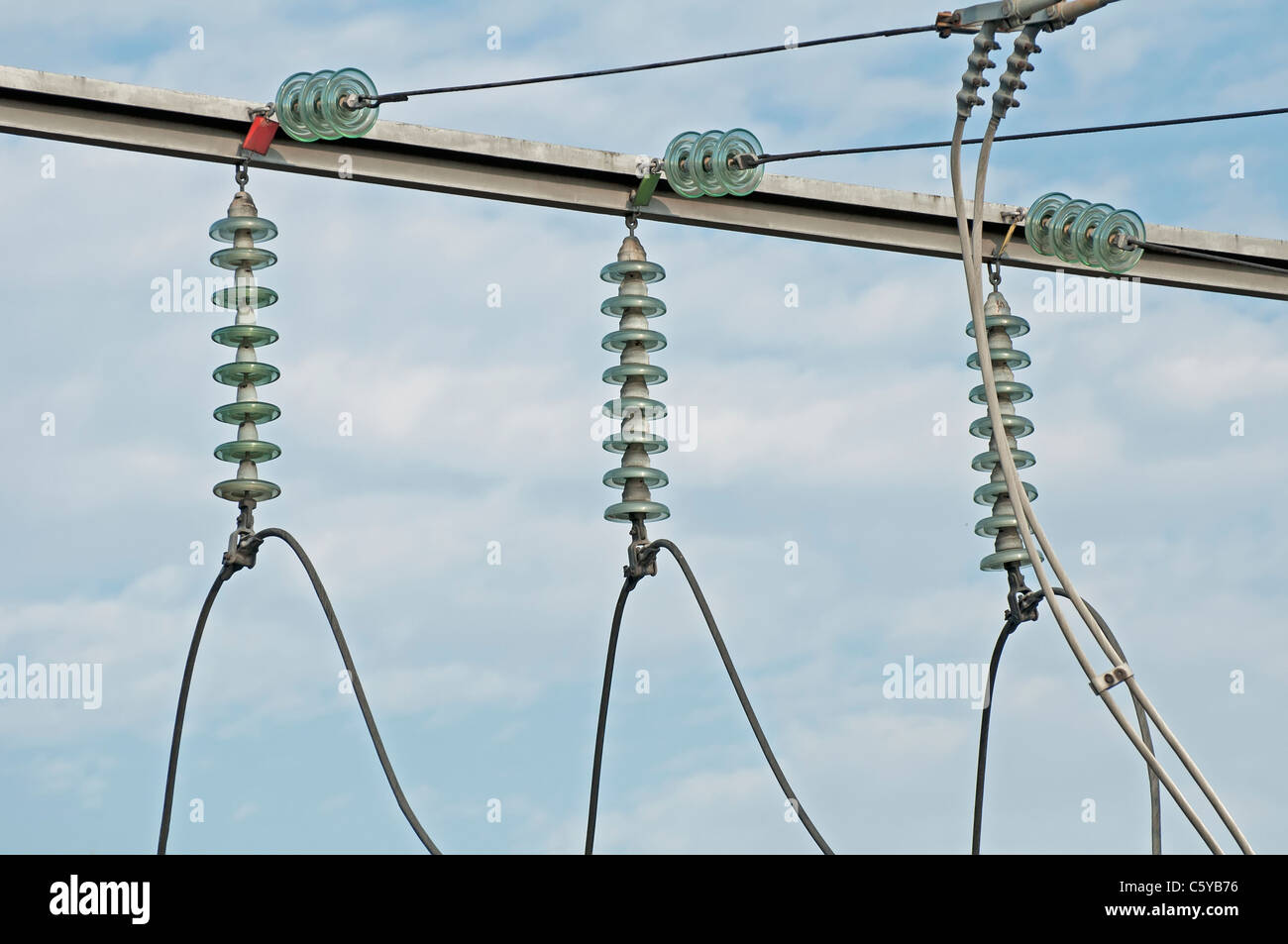High-voltage wire connections Stock Photo: 38095546 - Alamy