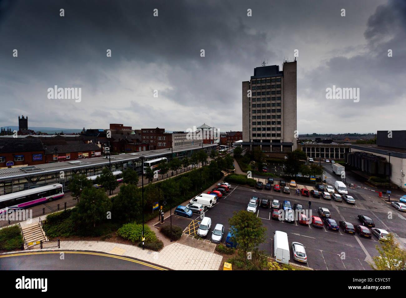 Oldham civic centre - Stock Image