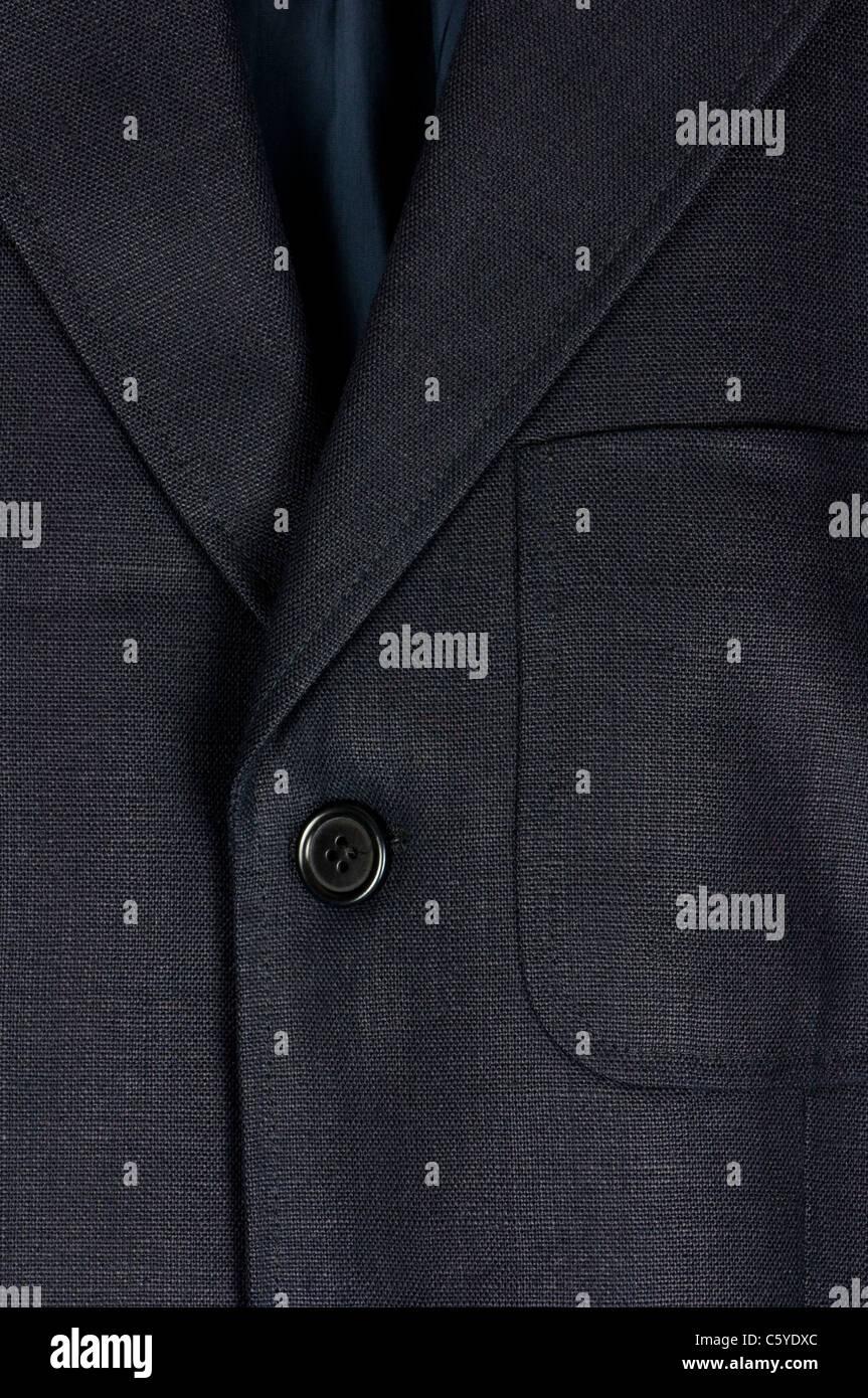 Linen jacket closeup - Stock Image