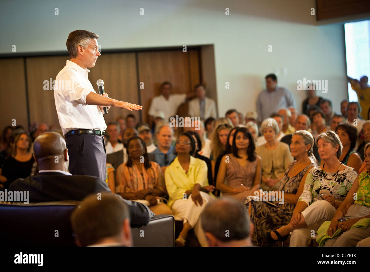 GOP Presidential candidate Jon Huntsman campaigns in Charleston, SC - Stock Image