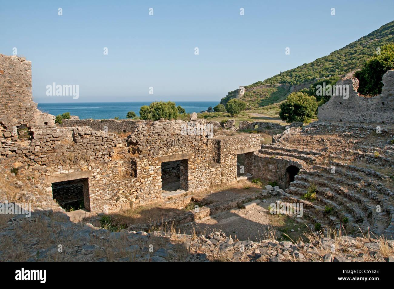 Anemurium Roman province of Rough Cilicia Turkey Turkish Anamur - Stock Image