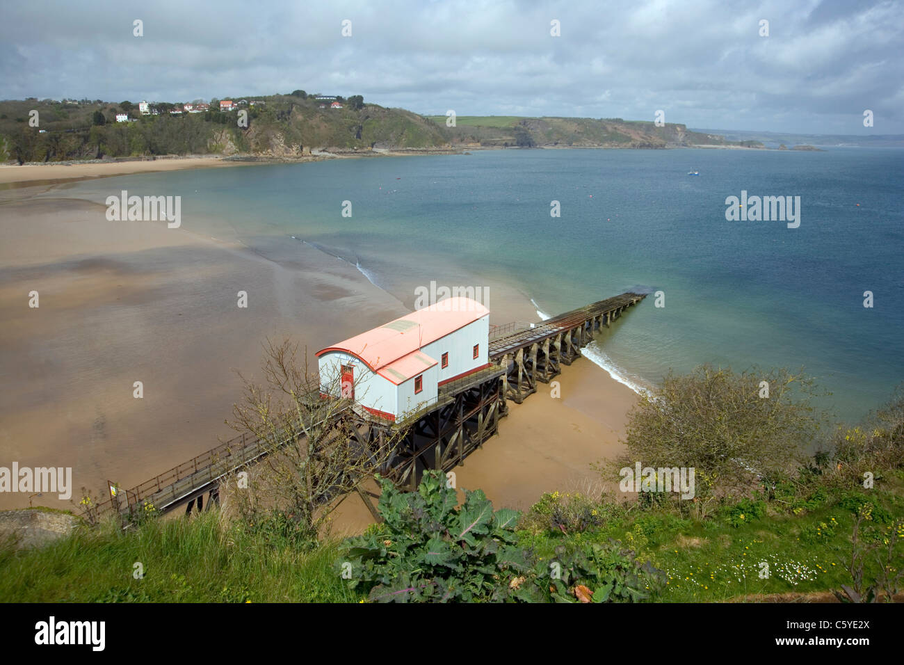The old lifeboat station, Tenby, Pembrokeshire, Wales, UK Stock Photo