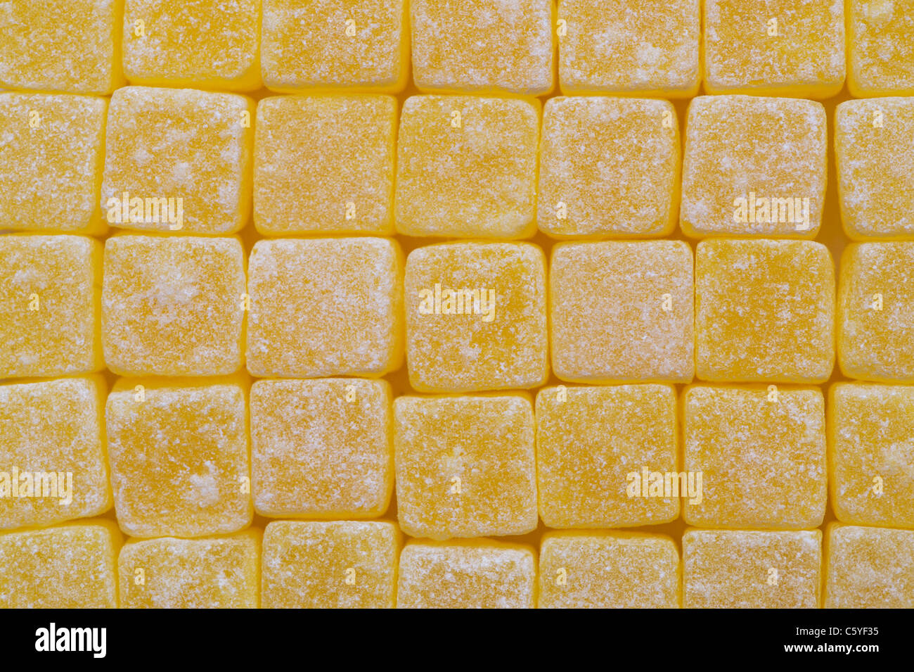 Pineapple cubes - Stock Image