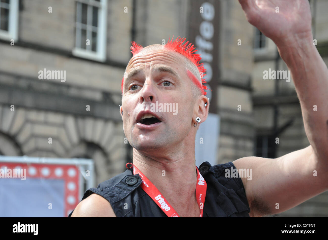 The Mighty Gareth, Street Performer at Edinburgh Fringe 2011 - Stock Image