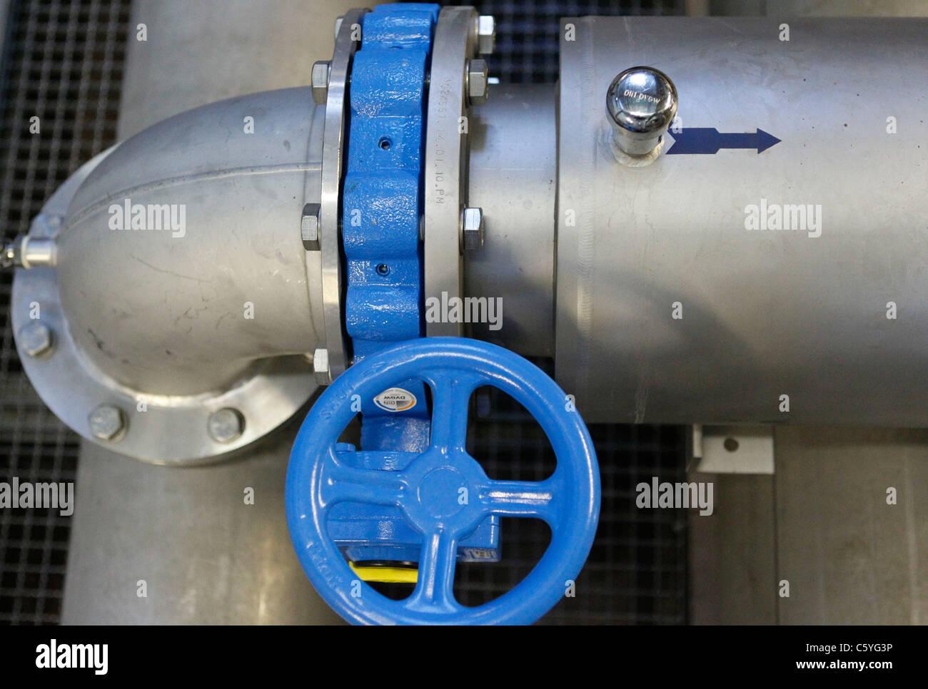 Water Tanks and Waterworks in Germany / Wasserwerk Leitzentrale / Wasserversorgung / Trinkwasser / 2011 / Mandoga Stock Photo