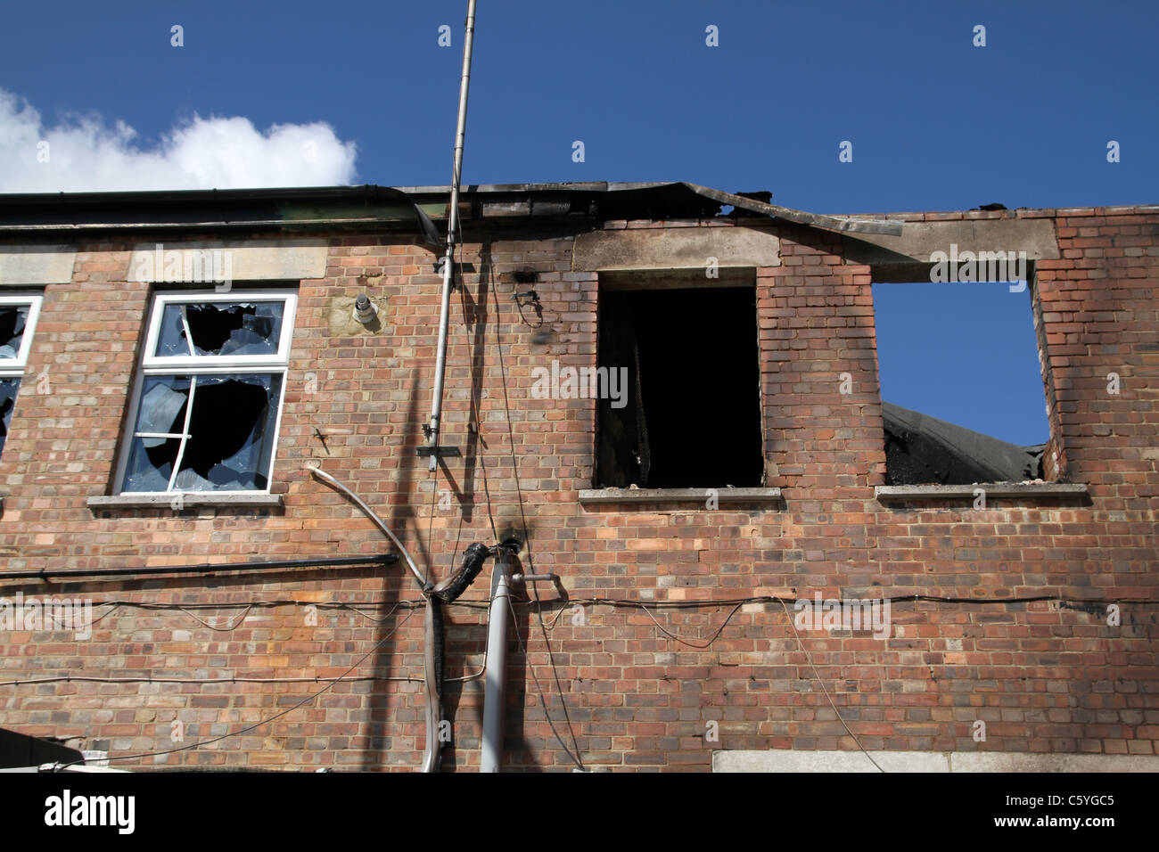Damage caused by riot and looting in Tottenham, London, UK. August 2011 - Stock Image