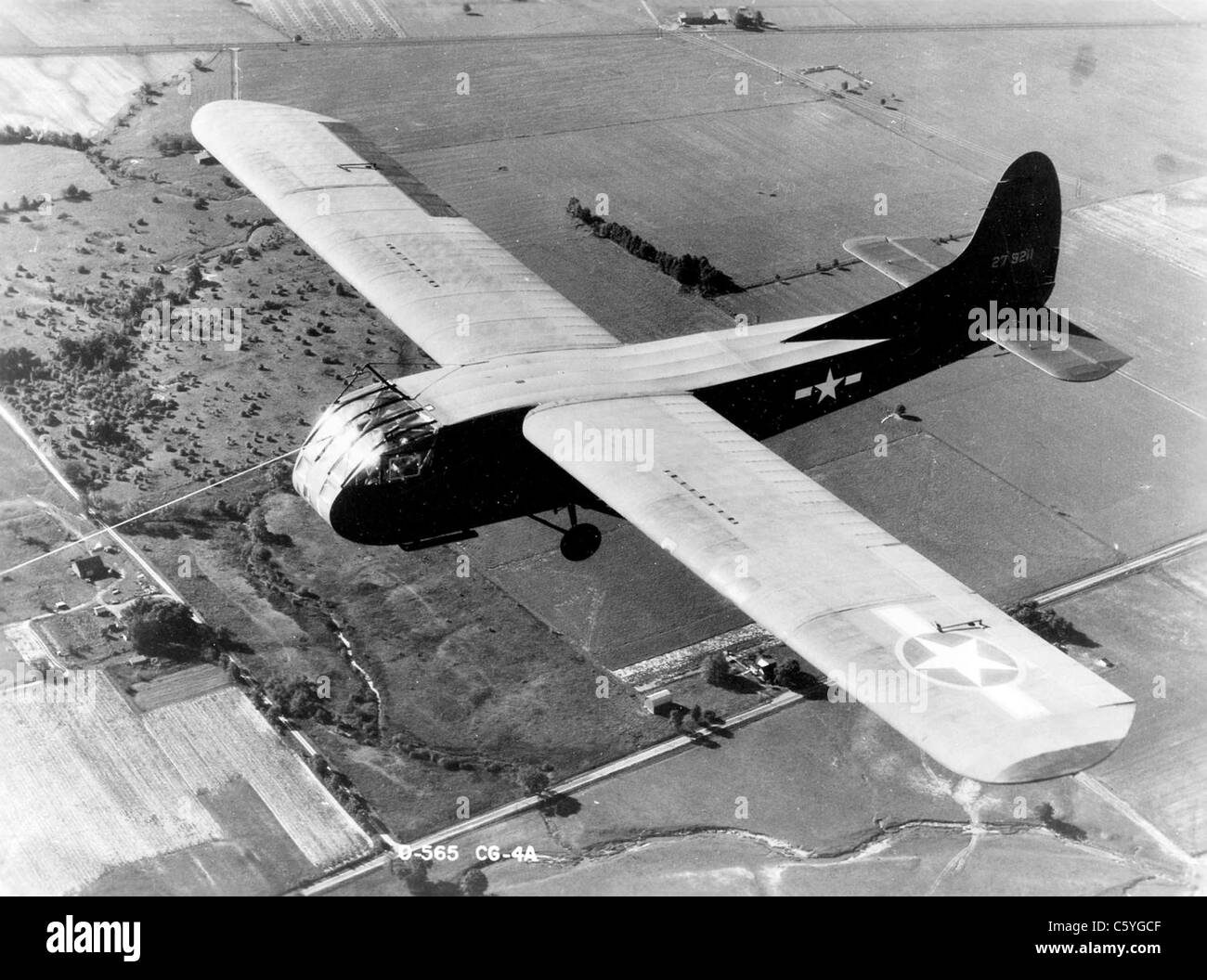 WACO CG-4  US Army Airforce troop and cargo glider widely used in WW2 - Stock Image