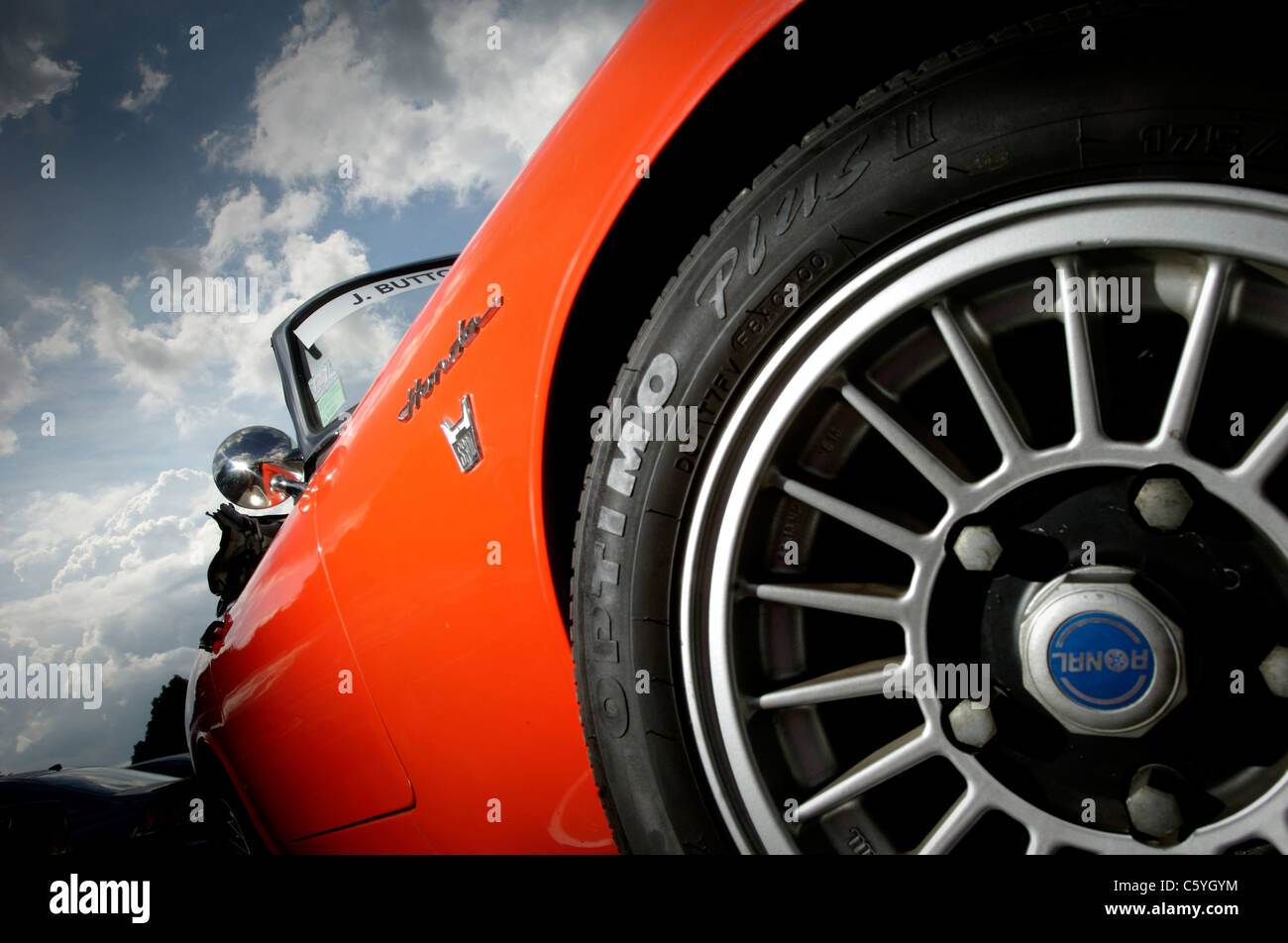 Orange Honda CAB S 800 - Stock Image
