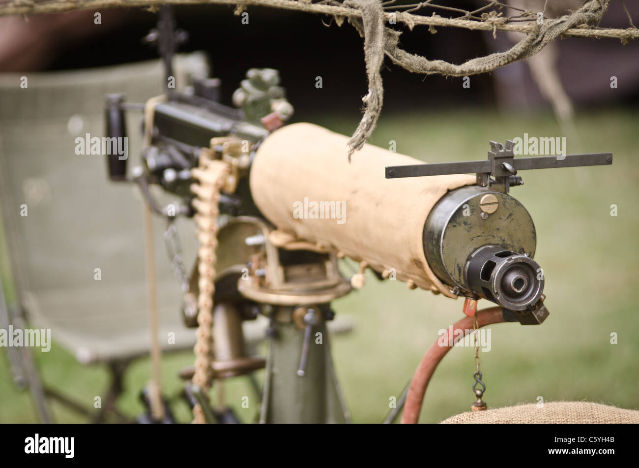 Vickers water cooled machine gun - Stock Image