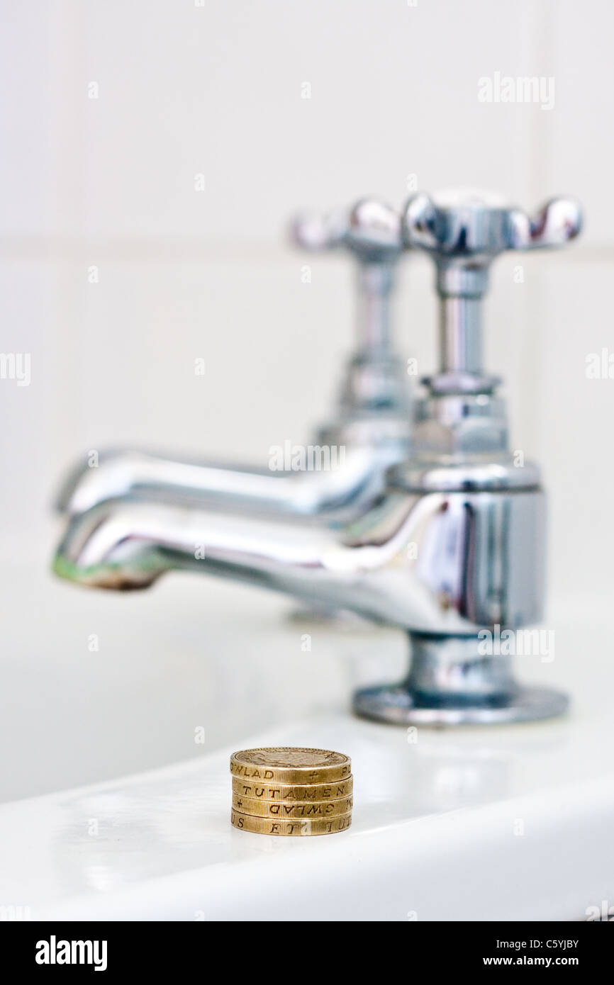Concept of cost of water - Stock Image