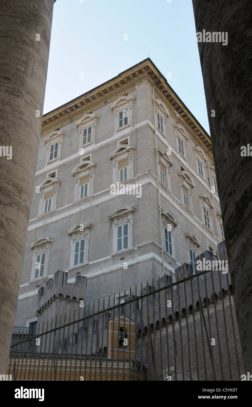 The Papal residence, Vatican City.  The Pope's apartment - Stock Image