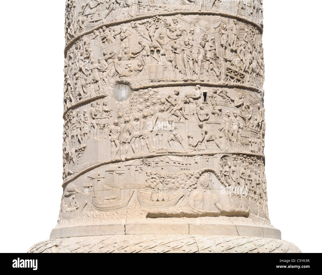 Trajan's Column (Colonna Traiana) detail, Rome - Stock Image