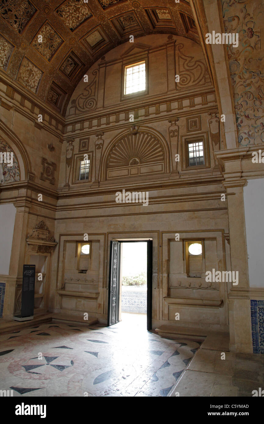 Inside one of the chapels in The Convent of the Order of Christ (Convento de Cristo) - Stock Image