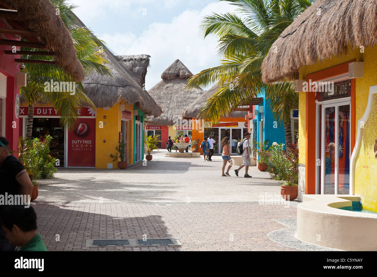 Cruise passenger tourists shopping in Cozumel, Mexico in ... |Cozumel Mexico Stores With Boots
