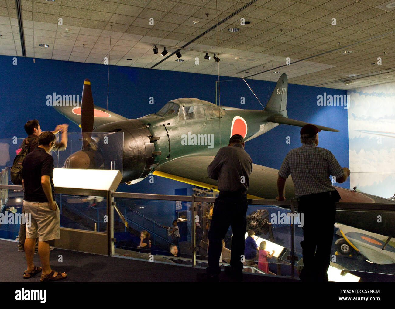 wwii japanese mitsubishi a6m zero fighter aircraft stock photo