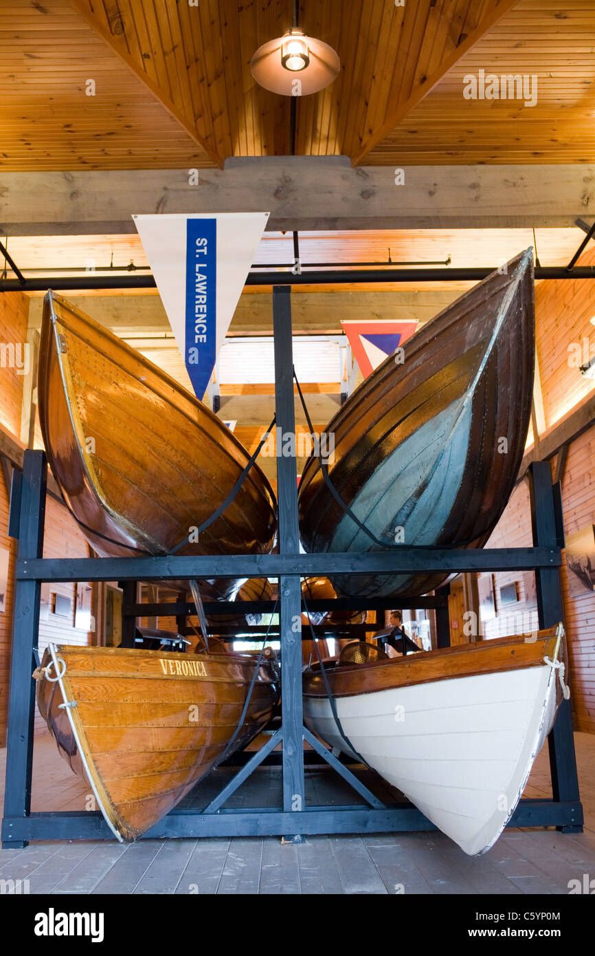 St Lawrence skiffs at Antique Boat Museum Clayton New York Thousand Islands Region Jefferson County, Jefferson County - Stock Image