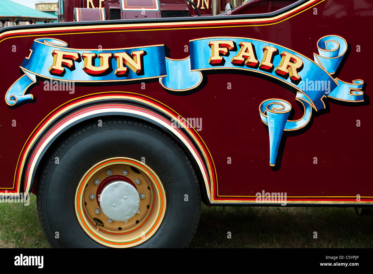 Fun Fair sign on Scammell highwayman truck. UK - Stock Image
