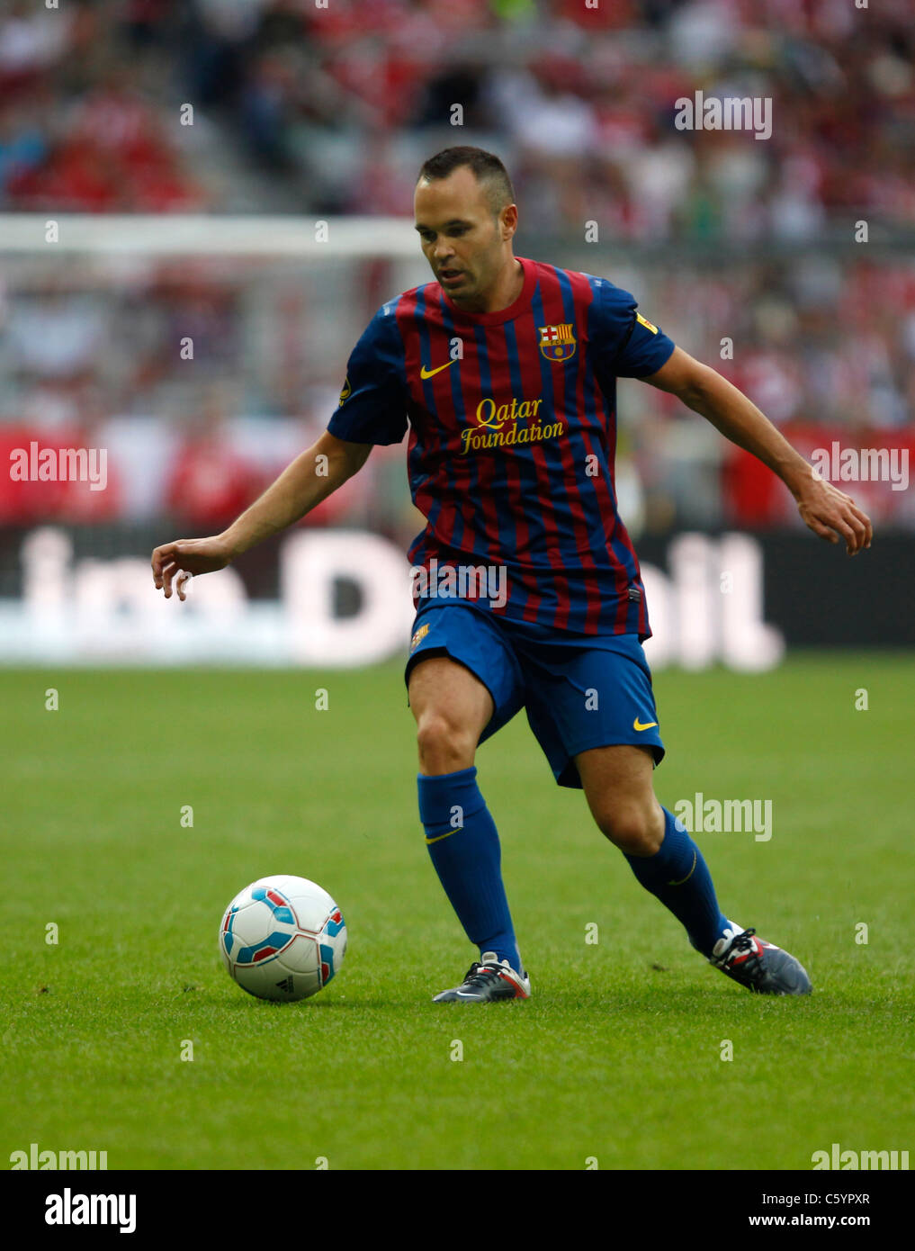 FC Barcelona player Andres Iniesta in action - Stock Image