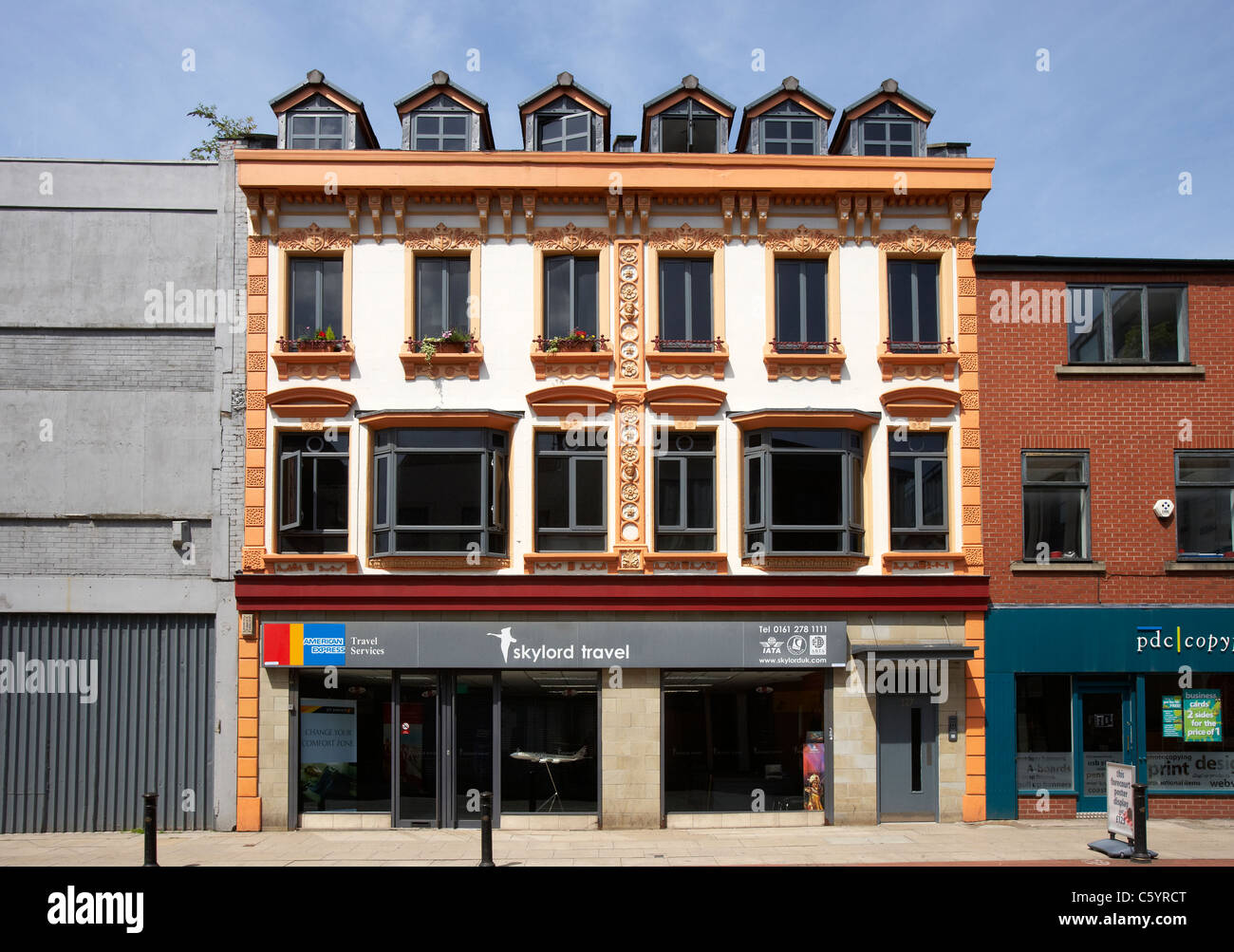 Skylord travel on Oldham Street in Northern Quarter Manchester UK - Stock Image