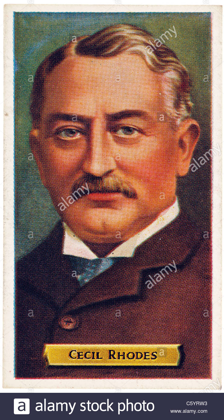 Cecil John Rhodes 1853 to 1902, English-born businessman, mining magnate, and politician in South Africa. EDITORIAL - Stock Image