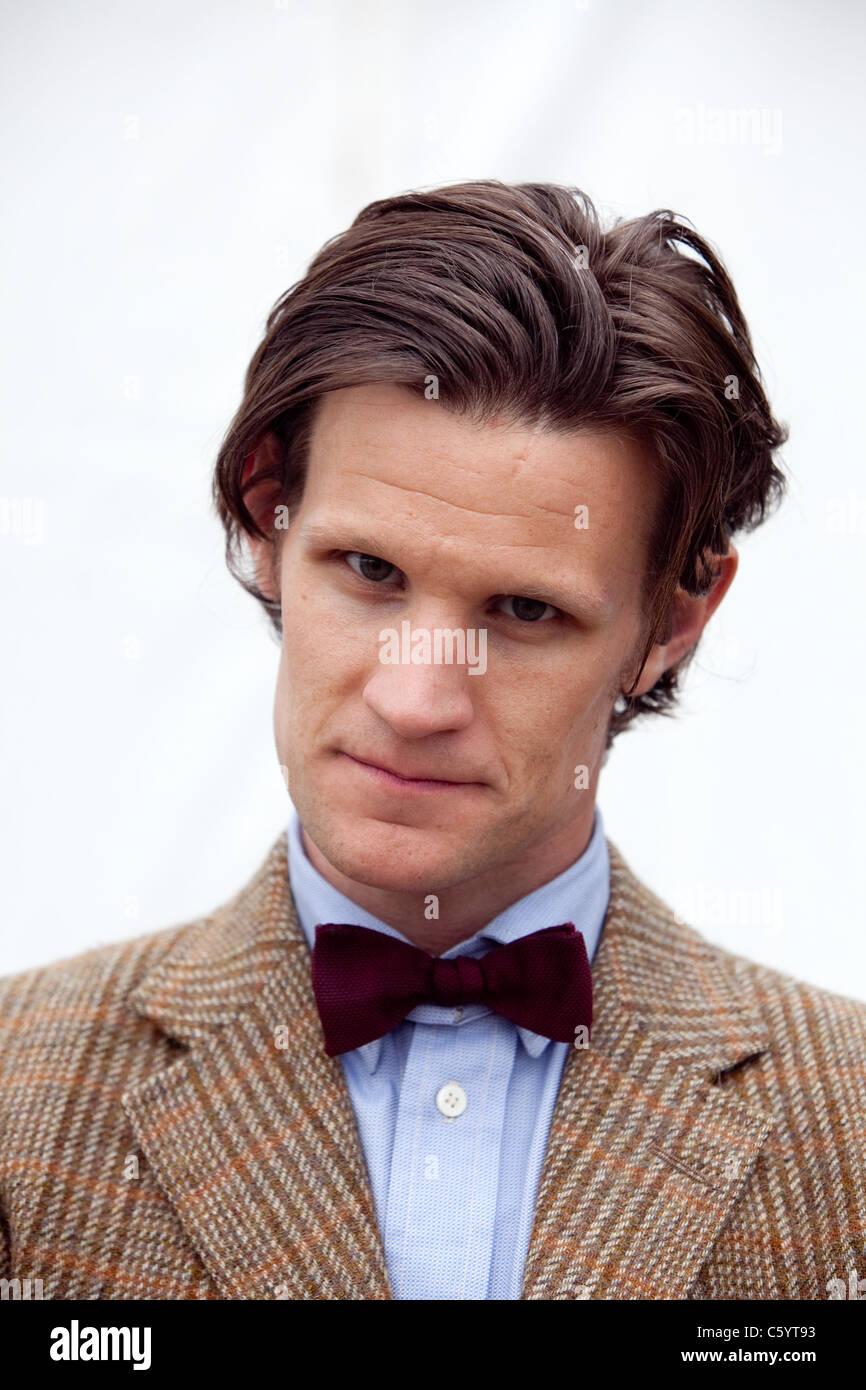 Matt Smith in Dr Who costume - Stock Image