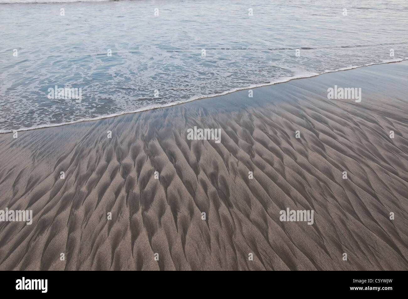 Patterns on the beach - Stock Image