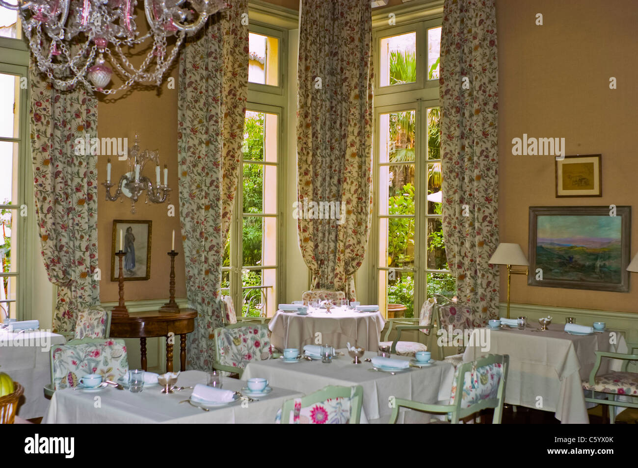 Avignon France Interior French Luxury Hotel Restaurant In Old City Stock Photo Alamy